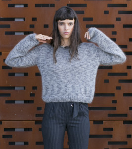 Sweter melanżowy